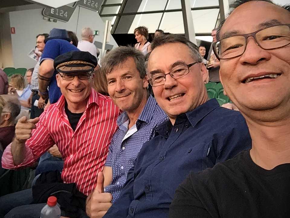 The Boys and Owen Thomas at Paul McCartney